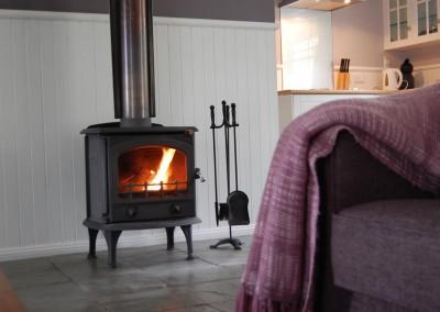romantic log fire